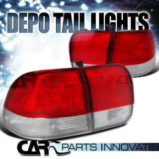 TAIL LIGHTS BRAKE STOP REAR LAMP RED CLEAR (Fits 1998 Honda Civic