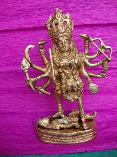 MAA KALI KAALI DURGA BRASS STATUE SCULPTURE IDOL Religious ECL