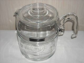 Vintage PYREX FLAMEWARE 9 cup Coffee Pot #7759B   EUC!! POT & LID only