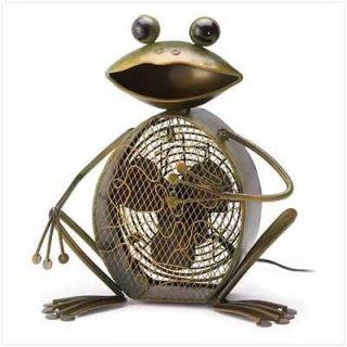 39986 Frog Figure Decorative Electric Fan