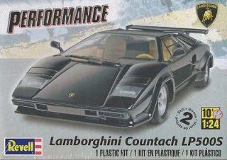 Revell Lamborghini Countach LP500S Plastic Model Car Kit Scale 124