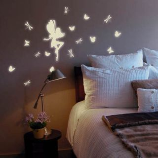 Fairy Glow in the Dark Removable Wall Decals Stickers