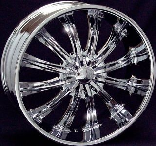 28 inch 28x10 B15 chrome wheels rims 6x5.5 6x139.7 +25