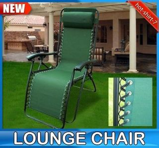 New Zero Gravity Lounge Chair Foldable Outdoor Patio Garden Recliner