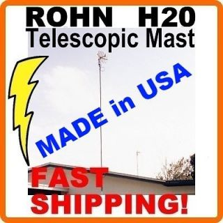 FT FOOT FEET TELESCOPING TELESCOPIC OUTDOOR TV ANTENNA MAST MOUNT POLE