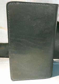 Genuine Leather Checkbook Cover Holder BLACK Leather Duplicate Checks