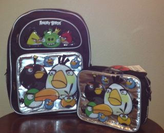 ANGRY BIRDS AND KING PIG 16 LARGE BACKPACK & LUNCH BAG 2 PIECE SET