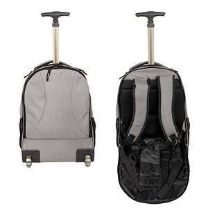 Hyundai Hmall Rolling Wheeled Backpack Book Bag Travel Carry on Drop
