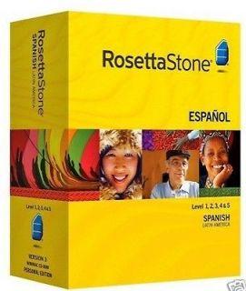ROSETTA STONE SPANISH (Latin America) LEVELs 1~2~3~4~5 Version 3
