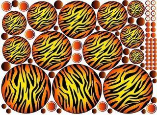 Safari Circles + 74 Dots Wall Sticker Vinyl Decal Kids Room Decor