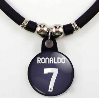 Cristiano Ronaldo #7 Real Madrid 2012 13 Away Jersey Necklace