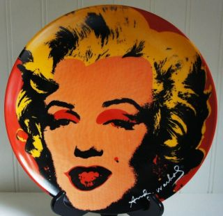 ANDY WARHOL x Block China Marilyn (Red) 10 Plate 1998 Ltd. Ed. 5000