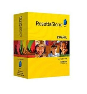 rosetta stone spanish 1 2 3 4 5 in Computers/Tablets & Networking