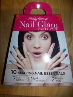 Sally Hansen Nail Polish Glam Party Pack with Nail Treatment and Tools