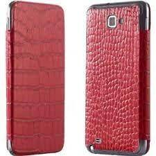 Anymode Leather Flip Cover Samsung Galaxy Note SGH i717 Red Battery