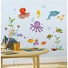 Sea Fish 60 BiG Wall Stickers Kids Decals Ocean Beach Octopus Dolphin