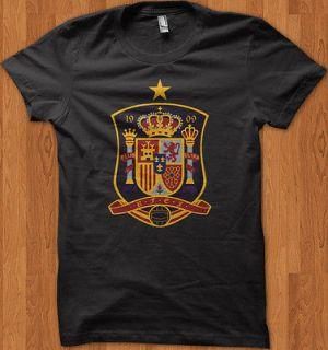 Spain Espana Euro 2012 Logo Soccer Football World Cup T Shirt All Size