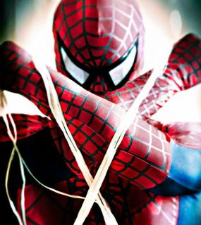 Super Ultimate Deluxe Spiderman Costume Rental Quality Adult from USA