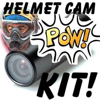 EXTREME HELMET CAMERA KIT SONY CCD HAD CAM FOR SPORTS / DRIVING