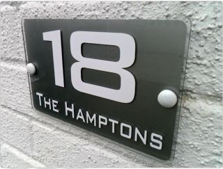 modern house numbers in Home Decor