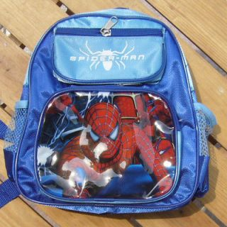 NEW BLUE SPIDER MAN COOL BOYS SCHOOLBAG SMALL BACKPACK