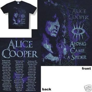 ALICE COOPER   SPIDER 2008 TOUR BLACK T SHIRT   NEW SMALL S