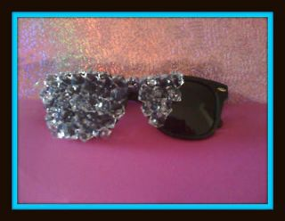 LADY GAGA OFFICIAL BORN THIS WAY STICKER + CRYSTAL SUNGLASSES