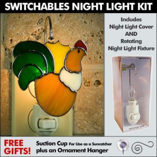 Switchables Stained Glass Night Light Kit  ROOSTER   52