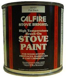 brush on stove flue fireplace paint matt flat black the