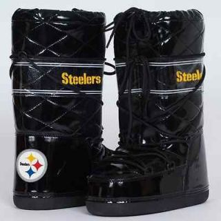 Cuce Shoes Pittsburgh Steelers Ladies Admirer Boots   Black