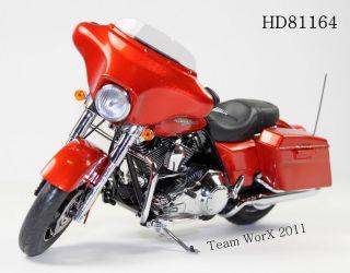 2011 Harley Davidson FLHX Street Glide Diecast Motorcycle 112 Sedona