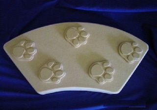 CAT PAW PRINT CURVED BORDER EDGING CONCRETE STEPPING STONE MOLD 5025