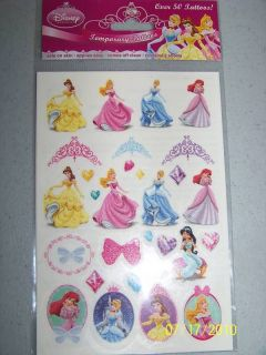 Birthday Party Favors OVER 50 DISNEY PRINCESS TATTOOS
