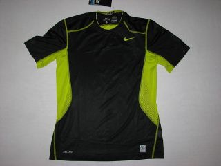 Nike Mens Pro Combat Hypercool Fitted Training T Shirt Black NWT Dri