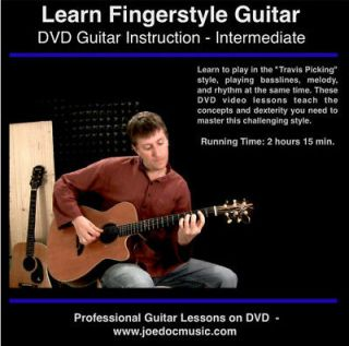 Learn FINGERSTYLE Guitar DVD for Ibanez & Ovation acoustic electric