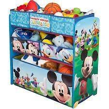 New DISNEY Mickey Mouse Multi Bin Toy Organizer