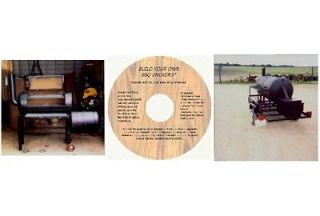 How to Build Any Size BBQ Smoker, Plans on CD
