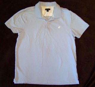 BANANA REPUBLIC light blue POLO SHIRT elephant logo MENS L large 43