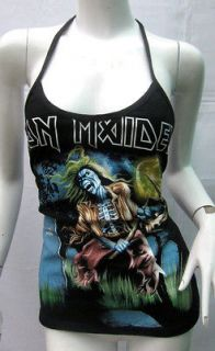 DIY TANK TOP IRON MAIDEN PUNK HEAVY ROCK T SHIRT M