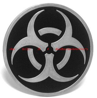HBG1741J BIOHAZARD BIOLOGICAL HAZARD TATTOO ART TRIBAL BELT BUCKLE