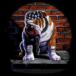 BAD BULL DOG BIKER SWEAT SHIRT (CREW or HOODED)