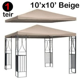 New Single Tier 10x10 Replacement Canopy Gazebo Top Cover Patio