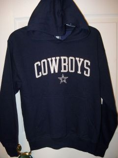 Dallas Cowboys Football Navy Blue Hoodie Pull Over Youth Boys Size 14