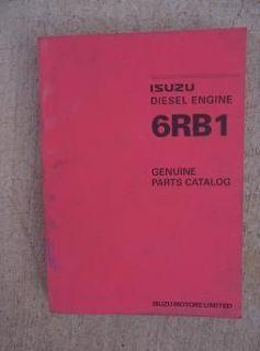 1998 Isuzu Diesel Engine 6RB1 Genuine Parts Catalog H
