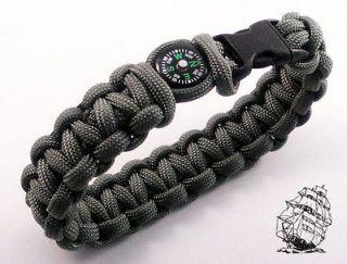 Paracord Survival Bracelet with Liquid Filled Compass z