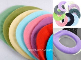 Bathroom Warmer Toilet Washable Cloth Seat Cover Pads color randomly