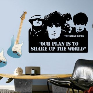The Stone Roses Ticket Quote Wall Art Vinyl Sticker