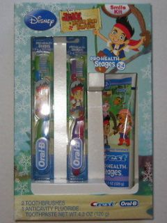 and the Neverland Pirates Toothbrush & Toothpaste Set Oral B 2 4 Yr