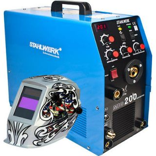 MIG 200 TIG/MMA Inverter Welding Machine + 4211A Welding Helmet