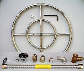 18 24 30 36 Stainless Steel Fire Pit Burner Ring KIT Natura gas